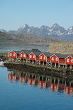 Mountain in Svolvaer, Lofoten, Norway Stock Photography