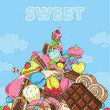 Mountain of sweets Stock Image