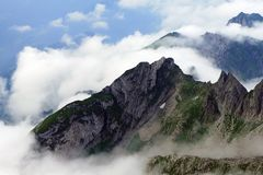 Mountain in the Swiss Alps Royalty Free Stock Images