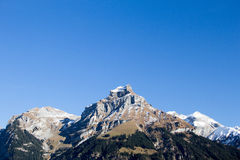 Mountain at Switzerland. Mountain view at Switzerland which snow on top Stock Image