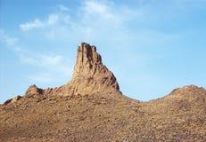 Rocky   Mountain in desert tamenrasset sahara- algeria Royalty Free Stock Images