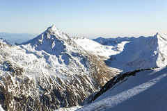 Mountain of Taschhorn at height of 4491 meters Royalty Free Stock Photo