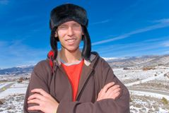 Mountain teen Stock Photo