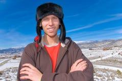 Mountain teen stock photo
