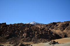 Mountain Teide in Tenerife, Canary Islands, Spain. Royalty Free Stock Images