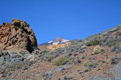 Mountain Teide in Tenerife, Canary Islands, Spain. Royalty Free Stock Photo