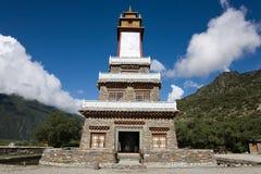 Mountain Temple. Temple of the Tibetan mountains Stock Photos
