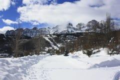 mountain in Tena valley, Pyrenees Stock Photos