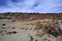Mountain on Tenerife, El teide volcano Royalty Free Stock Photos