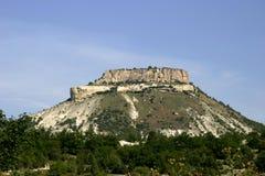 Mountain Tepe-Kerman, Crimea. Ancient cave in the rock city Crimea, Mountain Tepe-Kerman Stock Image