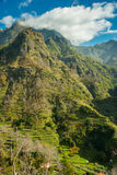 Mountain terrace view. Shot from a narrow mountain road pit-stop point stock images