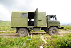 Mountain terrain vehicle stock photo