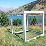 Mountain tesseract Royalty Free Stock Photography