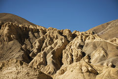 Mountain Texture of Moon Land Lamayuru Ladakh ,India Royalty Free Stock Photo