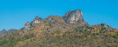 Mountain. In thailand  landscape blue rock sky highlands beautiful nature hill Stock Photo
