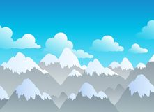 Mountain theme landscape 3 Royalty Free Stock Photography