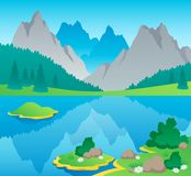 Mountain theme landscape 6 Stock Image