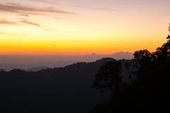 Mountain at Thong Pha phum National Park Stock Image