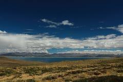 Lake Manasarovar in Tibet Stock Image