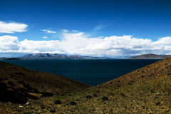 Siling Lake in Tibet Stock Image