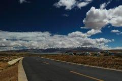 Lake Manasarovar in Tibet Royalty Free Stock Photography