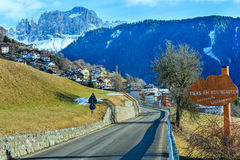 Mountain Tiers village (Italy). Mountain Tiers village in the South Tyrol province (Italy Royalty Free Stock Images