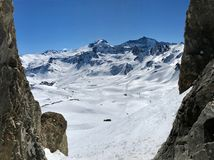 Mountain of Tignes Royalty Free Stock Images