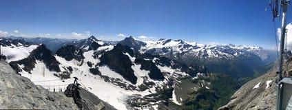 Mountain Titlis At July, Switzerland Stock Photos