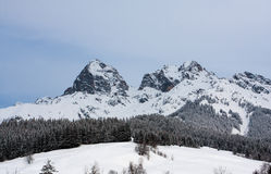 Mountain tock at winter time Royalty Free Stock Image