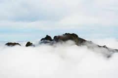 Mountain top. Top of the world Royalty Free Stock Photos