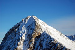 Mountain top. High peak in Stubai Alps, Austria, Tirol area Royalty Free Stock Image