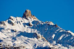 The mountain top. The top of La Maya, a swiss mountain Stock Image