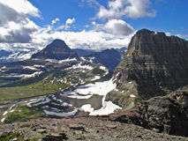 From The Mountain Top. This image of the mountains was taken from the top of Mt Oberlin in Glacier National Park Royalty Free Stock Image
