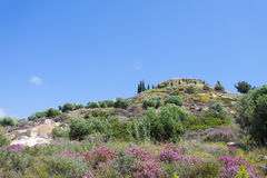 Mountain top of Agios Ioannis Stock Images