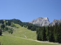 Mountain top in the alps royalty free stock images