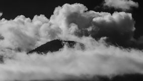 Mountain Top in Clouds Royalty Free Stock Photo