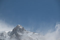 Mountain top in the clouds Royalty Free Stock Photos