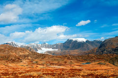 Mountain top with clouds Royalty Free Stock Photos