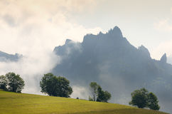 Mountain top with clouds. Stock Photography