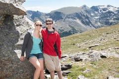 Mountain top couple Stock Photos