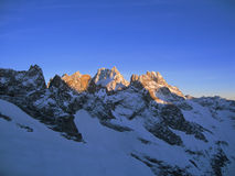 Mountain top in French Alps Royalty Free Stock Image