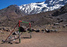 Mountain Top Goalposts Royalty Free Stock Photo