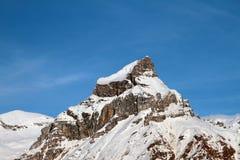 Mountain top Hahnen (2606 meters). Engelberg, Switzerland Stock Image