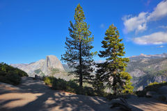 The mountain top Half Doum in Yosemite Royalty Free Stock Photography