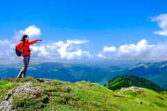Mountain Top Hiking royalty free stock images