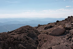 Mountain top landscape above the tree line Stock Photography