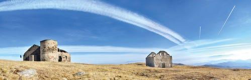 Mountain top panorama Stock Photography
