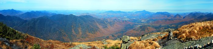 Mountain top panorama Royalty Free Stock Images