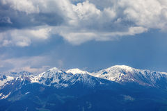Mountain top panorama on the Kronplatz Royalty Free Stock Image