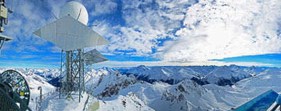 Mountain top panorama tyrol Royalty Free Stock Photography